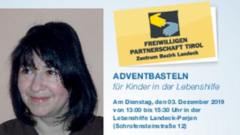 Flyer: Adventbasteln für Kinder in der Lebenshilfe