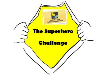 SuperheldIn mit Logo The Superhero Challange