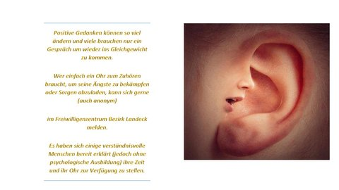 Flyer: Ein Ohr zum Zuhören
