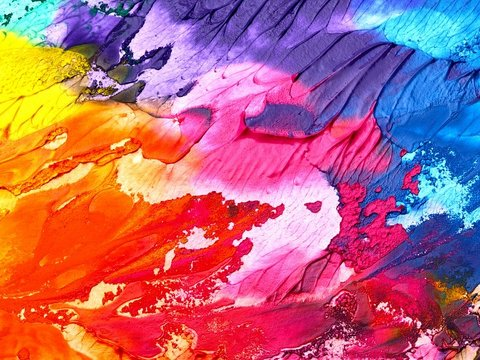 Bild mit bunten Farbflecken